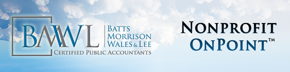 Batts Morrison Wales & Lee - Nonprofit OnPoint article