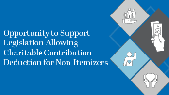 Opportunity to Support Legislation Allowing Charitable Deduction for Non-Itemizers